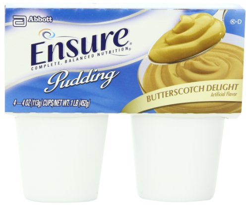 Ensure Pudding, Butterscotch Delight, 4-Ounce Cup, 4 Count, (Pack Of 12)