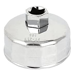 Vehicle Car 1/2-inch Drive 64mmx14 Flutes Oil Filter Cap Wrench Socket