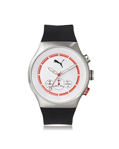 PUMA Men's PU102541001 Chronograph Black/White Rubber Watch