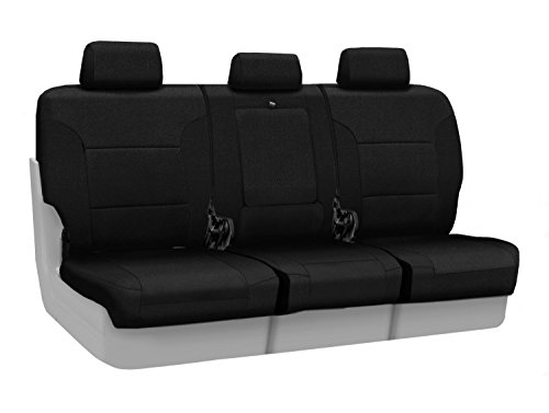 Coverking Custom Fit Rear 40/20/40 Seat Cover For Select Lexus Rx350/Rx450H Models - Velour (Black) front-1068544