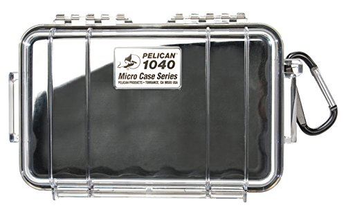 Pelican 1040 Micro-Case (Black with Clear Lid)
