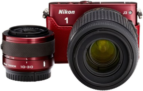 Amazon.co.jp限定Nikon1 J3 HLK+55-200mm超望遠セットA レッド N1J3+55-200RDBEKA