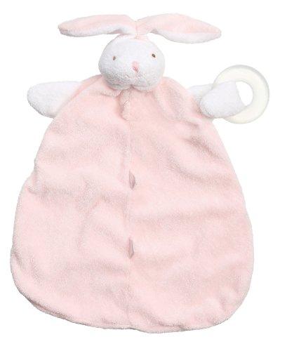 Angel Dear Teether Blankie, Pink Bunny front-294504