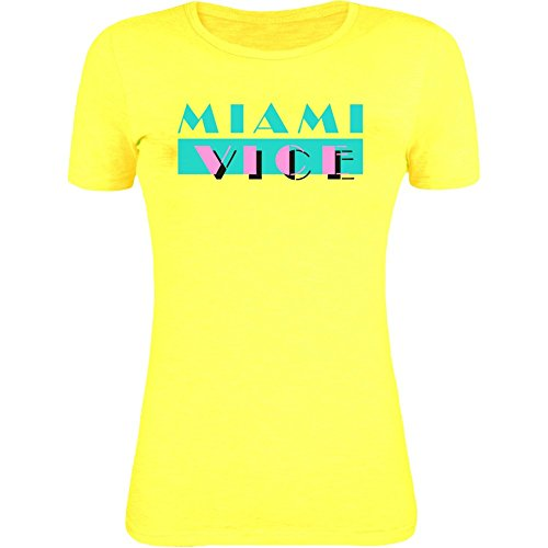 Miami Vice Logo Women's Sunshine Yellow T-Shirt - S to XXL