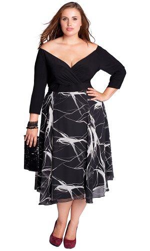 Cheap IGIGI by Yuliya Raquel Plus Size Kelly Dress in Black
