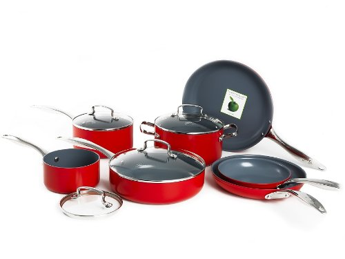 Fiesta CW0005627 11-Piece Cookware Set, Scarlet