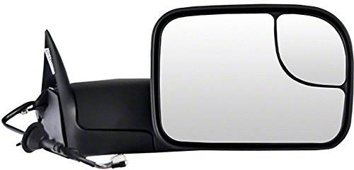 Power Mirror For 2011-2012 Ram 2500 Left Side Manual Fold Heated Textured Black