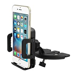 Car Mount, INCART™ 360° Universal Easy One Touch CD Slot Car Mount Holder Cradle for iPhone 6/6s/6 plus/5s, Samsung Galaxy S6/S6 edge/S5/Note, LG, HTC, Nexus, Nokia, Cell Phone, Smartphone