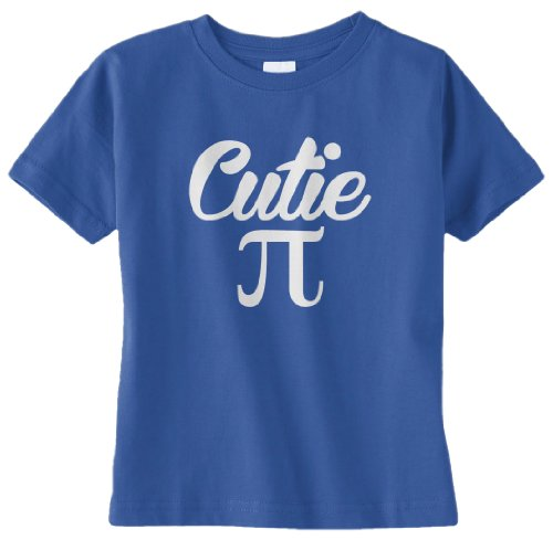 Threadrock Unisex Baby Cutie Pi Infant T-Shirt 6M Royal Blue front-913339