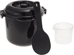 電子レンジ専用炊飯器 備長炭入り ちびくろちゃん 2合炊き