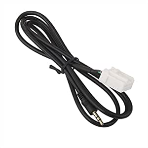 Generic Car 3.5mm AUX Audio CD Interface Adapter Cable For Mazda 2 3 5 6 2006-2013