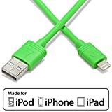 Aduro - Apple Certified / MFi [Lifetime Warranty] - USB to Lightning Extra Long 10 FEET (3 Meters) Charge & Sync Cable fits all Apple Devices with Lightning Connector - iPhone 5 / 5S / 5C / 6, iPad 4, iPad Mini, iPad Air, New iPod Touch and Nano (Retail Packaging) Green
