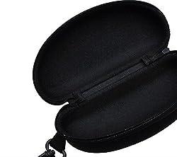 3PCS Universal Black Glasses Carry Case Box EVA Hard Compression With Hooks Travel Pack New