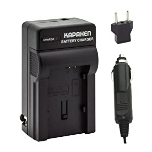Kapaxen Rapid Battery Charger Kit for Canon BP-820 BP-828 Camcorder Batteries