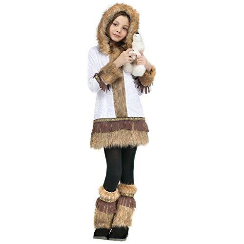 GSG Eskimo Costume Kids Halloween or Christmas Fancy Dress (Eskimo Outfit)