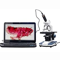 AmScope M620C-E1 40X-2500X LED Digital Monocular Compound Microscope w 3D Stage +1.3MP USB Imager