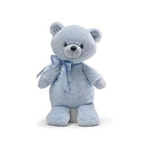 "Gund Oliver Blue Bear 9"" Plush with Chime by Gund"