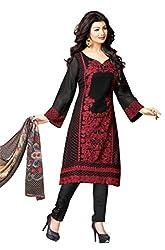 Mahaveer Fashion Women's Dress Material (8961_25_72007_Black_Free Size)