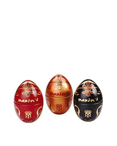 Maxim's de Paris Set of 3 Mini Egg Tins