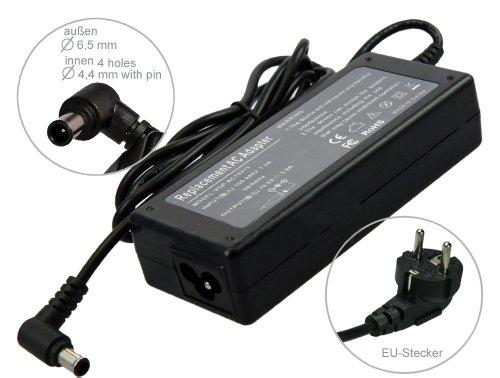 Alimentatore AC Adapter per Notebook Carica Batterie per Sony Vaio VGP-AC19V20 VGP-AC19V28 VGN-CS21S VGN-CS21Z VGN-CS31Z/Q VGN-C1S /G /H /P VGN-CR31S /L/P/R/W. Con cavo di alimentazione a norma europea. Di e-port24®