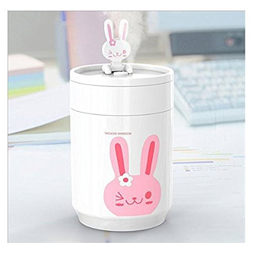 Buwico® USB Mini Portable Ultrasonic Air Humidifier Mist Maker Cute Cartoon Design Humidifier for Home Office Car (Rabbit)