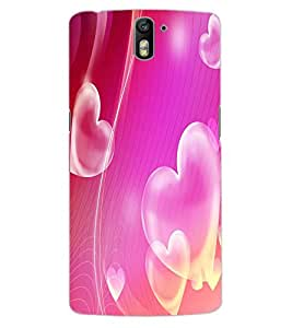 ColourCraft Love Hearts Design Back Case Cover for OnePlus One