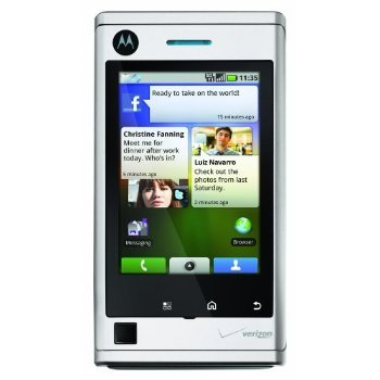 BRAND NEW MOTOROLA DEVOUR A555 8GB GOOGLE ANDROID 3G SILVER CDMA VERIZON TOUCHSCREEN
