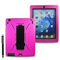 Cellularvilla Combo Case for Apple Ipad 2 Ipad2 Hybrid Armor Kickstand Hard Soft Case Cover-Pink from CELLULARVILLA