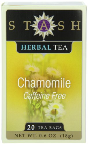 Stash Tea Chamomile Herbal Tea, 20 Count Tea Bags in Foil (Pack of 6)