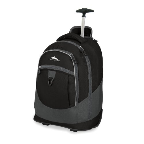 High Sierra Wheeled Backpack Charcoal