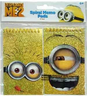 Despicable Me Foil Memo Pad 2ct 3x5 [6 Retail Unit(s) Pack] - DSM7774 - 1
