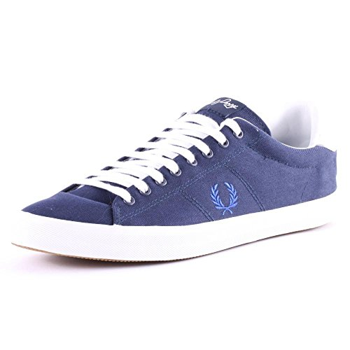 Fred Perry Howells Twill B6260 Mens Textile Trainers Carbon