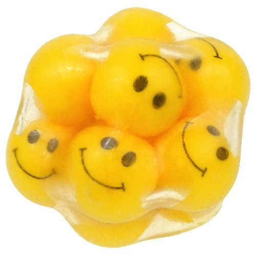 Play Visions 015198 Funfidget Squishy Ball, Smiley Face - 1
