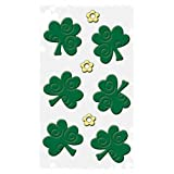 Happy St. Patricks Day Decorations: Reusable Window Gel Clings, 6 x 12