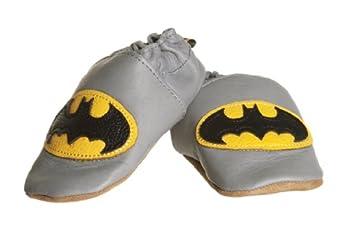 enfants batman chaussons cuir de saveurs tissu v tements et accessoires. Black Bedroom Furniture Sets. Home Design Ideas