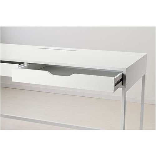 Ikea Alex Computer Desk with Drawers White