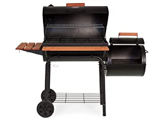 Char-Griller 1224 Smokin Pro 830 Square Inch Charcoal Grill with Side Fire Box from Char-Griller