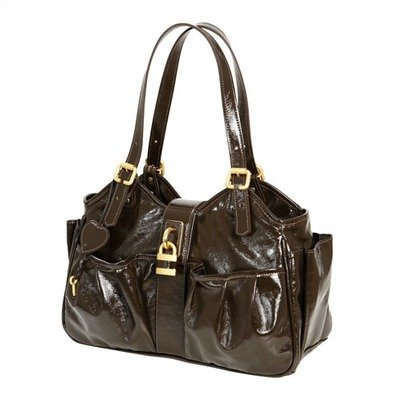 Caryn Diaper Bag In Fudge Brown front-276804