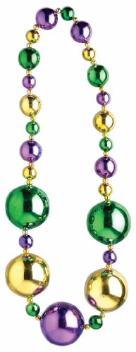 Forum Mardi Gras Parade 42-inch Bead Necklace Graduated Ornament Beads Costume
