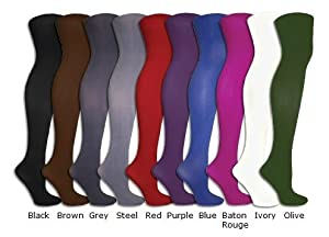 Noble Mount Women's Solid Microfiber Premium Tights - Colors Available
