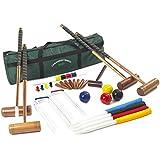 Garden Games Longworth Full Sized Adult Croquet Set in a Canvas Storage Bag