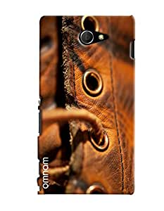 Omnam Leather Shoes Closeup Printed Designer Back Cover Case For Sony Xperia M2