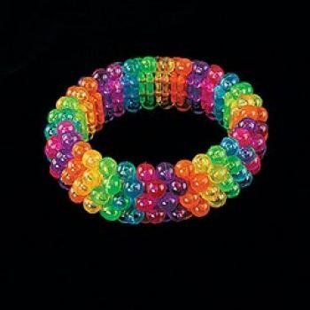 Fun Express - Beaded Rainbow Bracelets 1 DOZEN - BULK