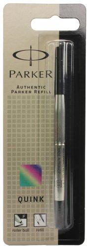 Parker Recharge pour Stylo Roller Pointe Fine - Noir (Emballé sous blister)
