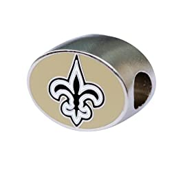 New Orleans Saints Charm Bead Fits Pandora Style Bracelets Like Pandora Chamilia Biagi Zable Troll & More
