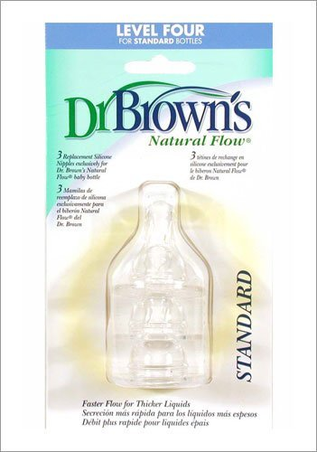 Dr. Brown'S Standard Level Four Nipples, 3 Pack front-838281