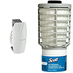 Scott Automatic White Air Freshener Dispenser With 6 Ocean Refills