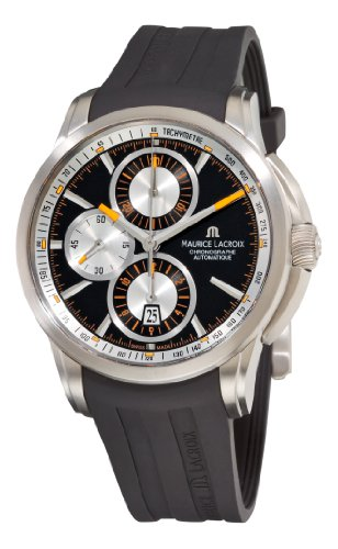 Maurice Lacroix Men's PT6188-TT031330 Pontos Black Chronograph Dial Watch