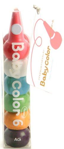 Baby Color Stackable Crayon Bit - 6 Color Set