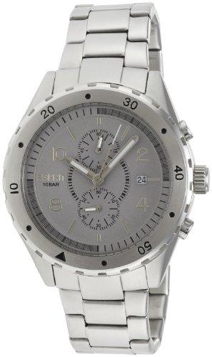 Esprit ES105551005 - Reloj analógico de cuarzo para hombre con correa de acero inoxidable, color plateado